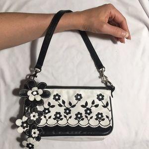 Isabella Fiore Leather Floral Handbag